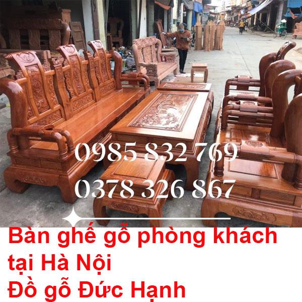Bàn ghế gỗ phòng khách tại Hà Nội
