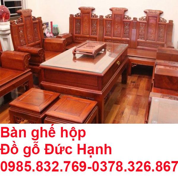 Bàn ghế hộp gỗ âu á