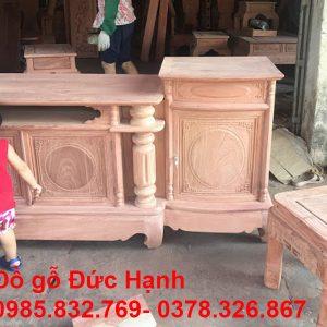 Kệ Tivi Cột Nho Trơn Hương đá
