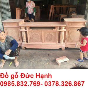 Kệ Cột Nho Hương đá Trơn K25
