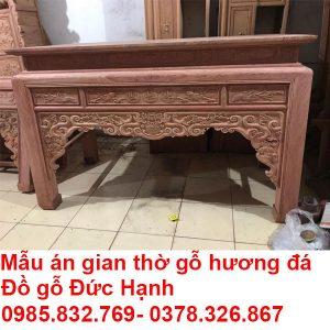 Mẫu án Gian Thờ Gỗ Hương đá