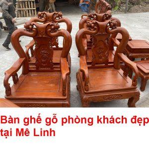 Bàn Ghế Gỗ Phòng Khách đẹp Tại Mê Linh