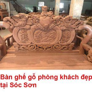 Bàn Ghế Gỗ Phòng Khách đẹp Tại Sóc Sơn