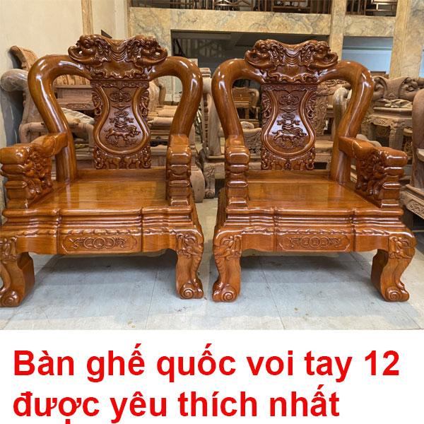 Bàn Ghế Quốc Voi Tay 12 Mẫu Hot được Khách ưa Chuộng Nhất