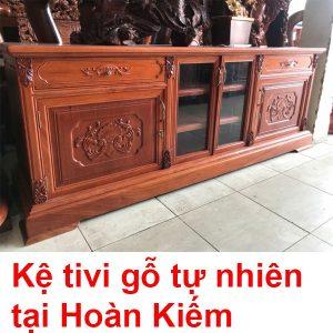Kệ Tivi Gỗ Tự Nhiên Tại Hà Nội